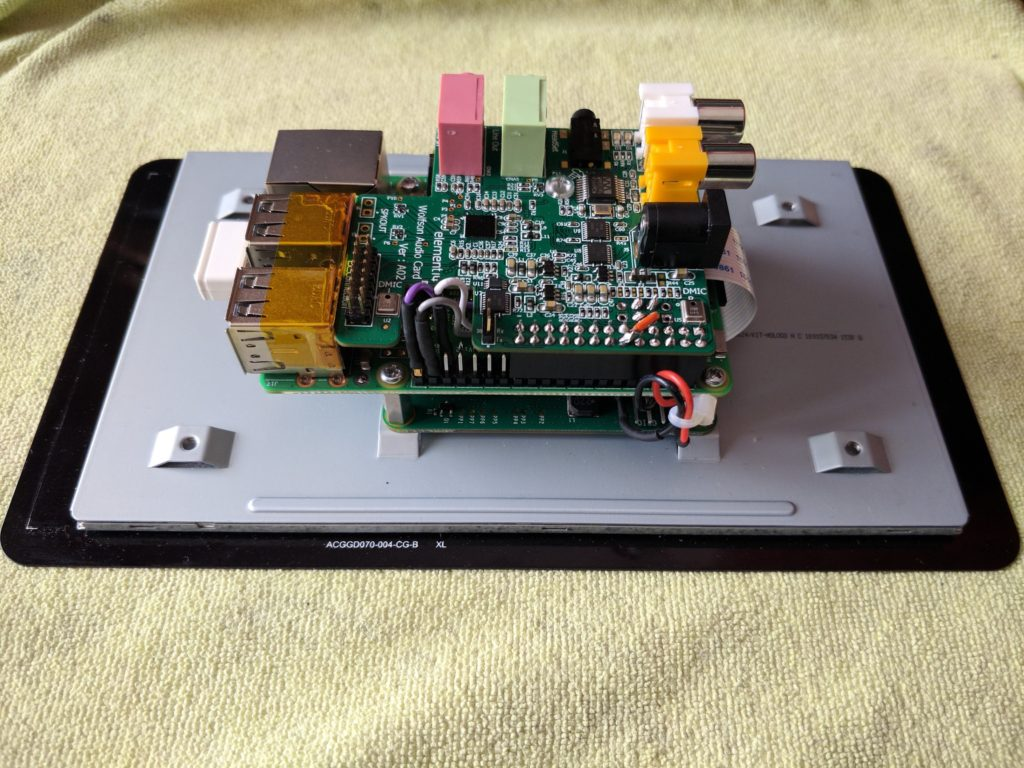 Assembled to Raspberry Pi and Touch Display