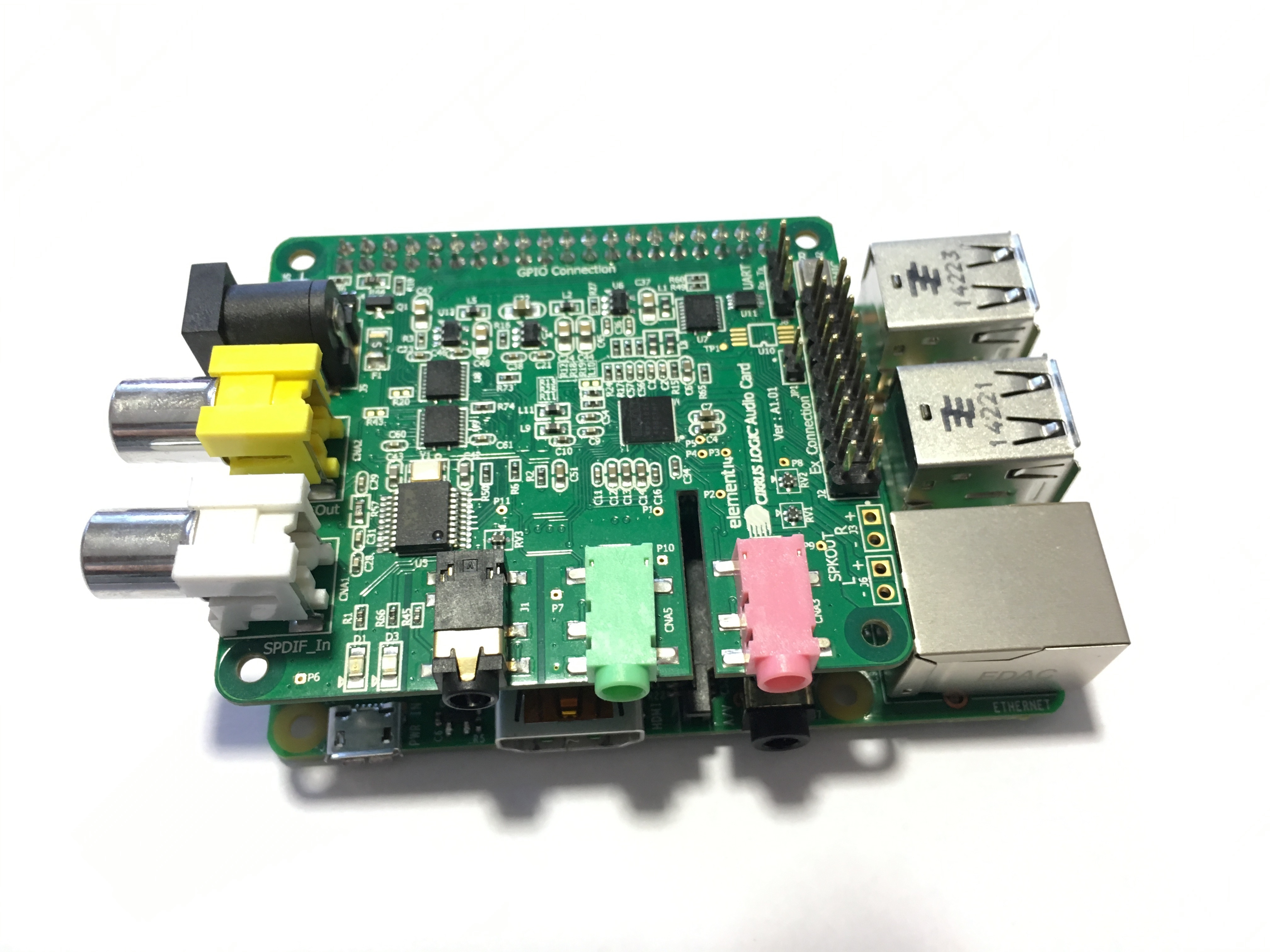 Connecting the Wolfson Sound Card to the Raspberry Pi3